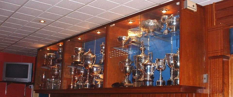 Vale of Leven Bowling Club Trophy Cabinet